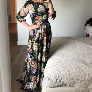 Anthropologie dress gown worn once for photoshoot